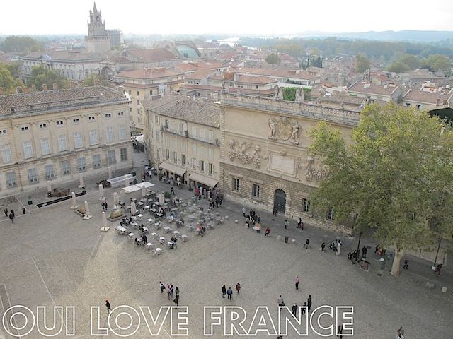 View from the tower of Palais des Papes Avignon OuiLoveFrance.com #Provence #France #Travel