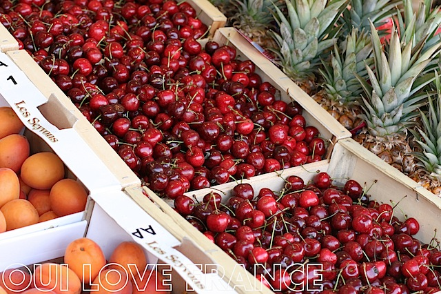 Cherries featured at OuiLoveFrance.com #markets #france #provence